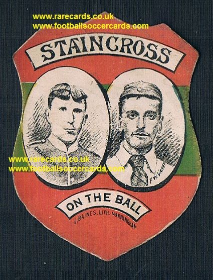 1880 Pears' Soap Staincross rugby club inset Charlesworth and F.W. Varey Baines Manningham