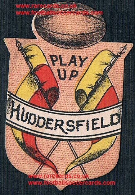 1880s Briggs Richardson Sharpe rugby ball flags Huddersfield card