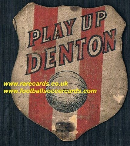 1880s Brown Litho Ashton Denton F.C. baines-like card