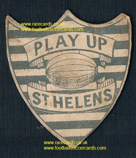 1880s earliest ever St. Helens rugby card, Wellington Hotel