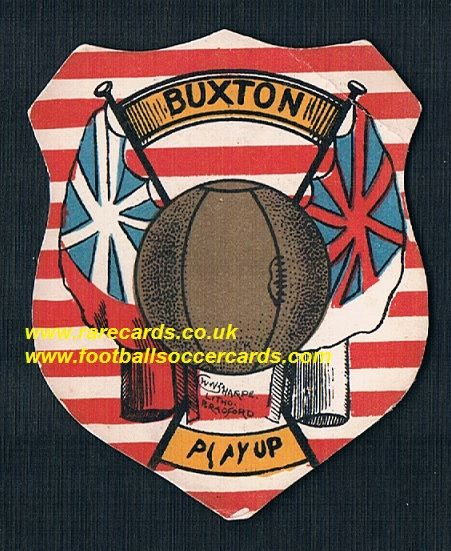 1880s Sharpe's Buxton FC Play Up Toole card