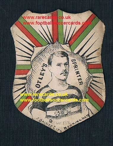 1886 Baines Special Cup Ties dated card Otley RFU sprinter Wise