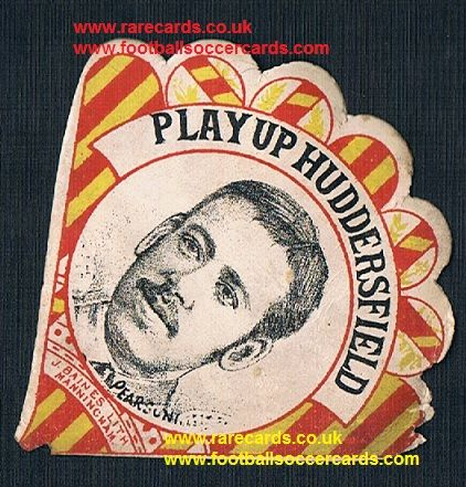 1890 BARGAIN! Play Up Huddersfield Pearson Baines fan shape card