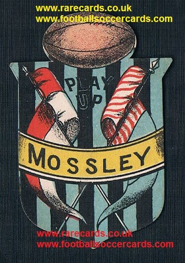 1890 Mossley F.C. Briggs or Sharpe football card