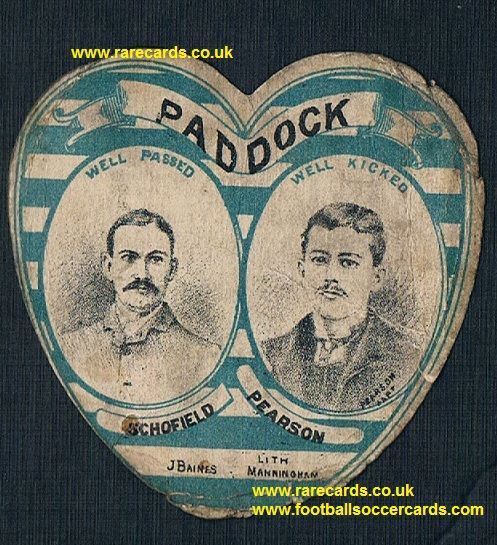 1890s Baines card Paddock Tom Pearson captain Schofield