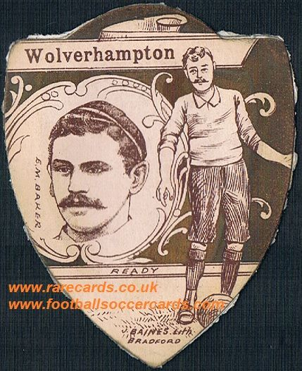 1890s Baines card Wolves player Baker AMR rear