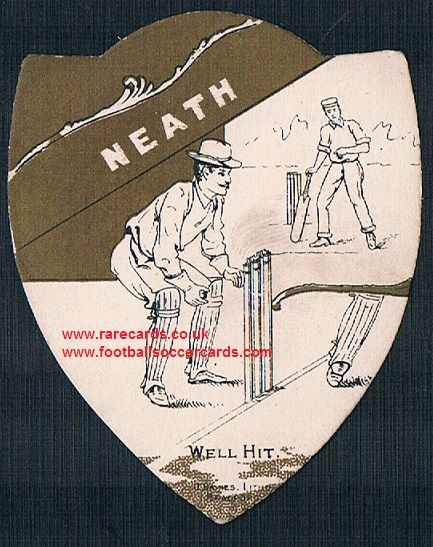 1890s Neath cricket club on a Baines cricket trade card