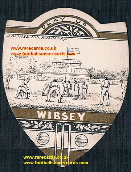 1890s Wibsey cricket club on a Baines cricket trade card