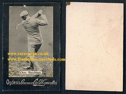 1899 Ogden's Guinea Gold golf card Chas Hutchings