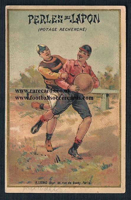 1900 Perles Japan French rugby trade card