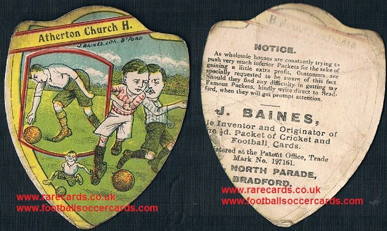 1900s Atherton FC Church House Wigan Baines card