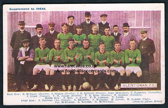 1908 Glentoran colour postcard by IDEAS PICTURE POST mag The Glens Belfast