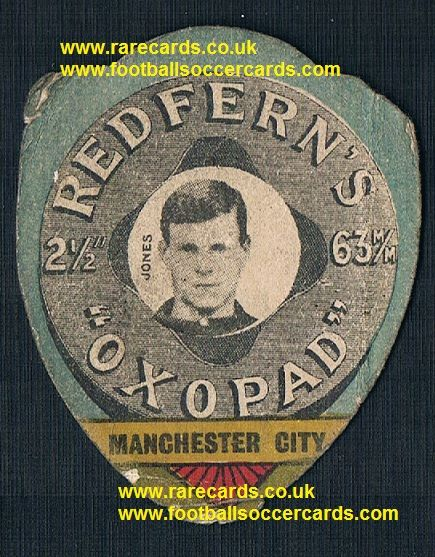 1910 Redfern's William Lot Jones Man City Wales Druids Chirk Wrexham Aberdare Baines card