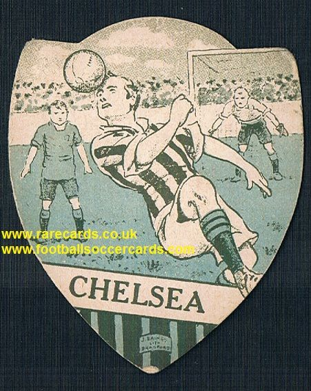 1914 Baines Ltd blue wartime Chelsea FC card