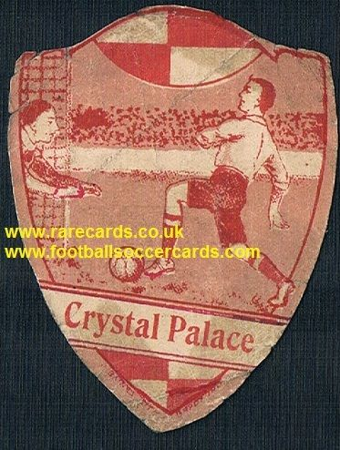 1914 Crystal Palace F.C. football card by Baines fountain pen type