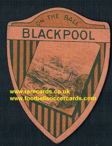 1918 Blackpool Baines RARE TYPE shield poetry back, coloured card