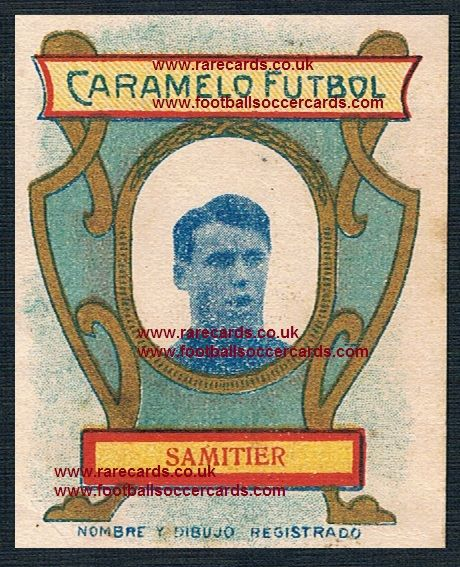 1920 Caramelo Futbol card Samitier Barcelona 1 of only 2 extant