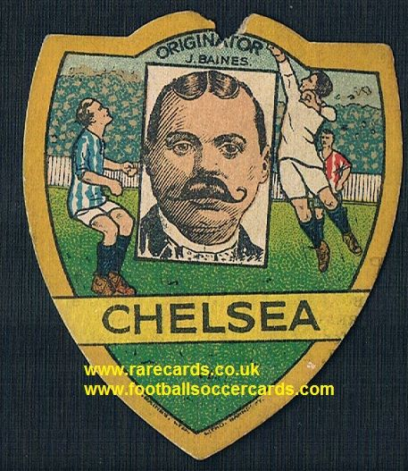 1920 Chelsea baines card with J Baines portrait