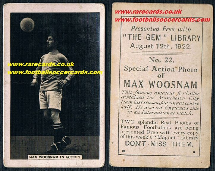 1921 Gem Max Woosnam 22 tennis and all-sports legend