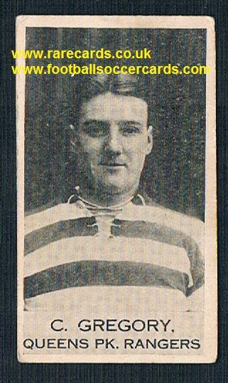1922 Clarence Gregory QPR Sunderland Yeovil Hereford Clarnico Poppleton