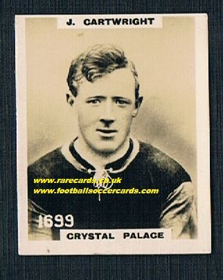 1922 Crystal Palace 1699 Cartwright