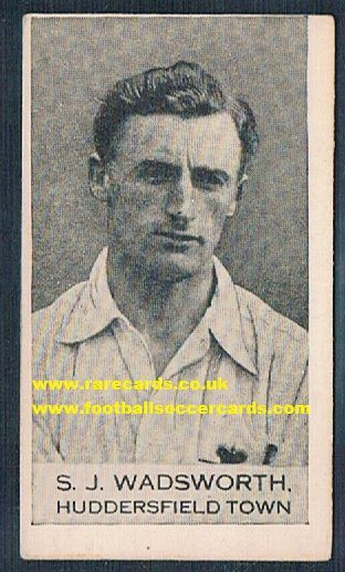1922 Sam Wadsworth Huddersfield Clarnico