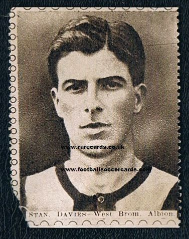 1922 Sports Fun Stan Davies WBA stamp