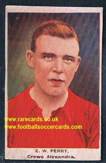 1923 Adventure Gallery Famous Club Colours Players Crewe Alexandra Perry