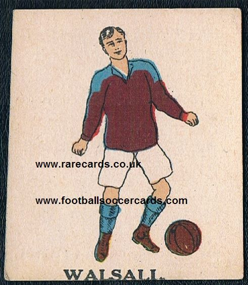 1923 Battock's Walsall card