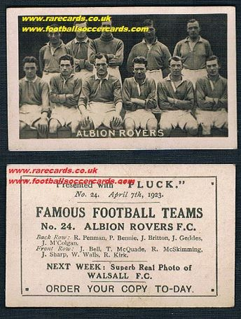 1923 Pluck Albion Rovers