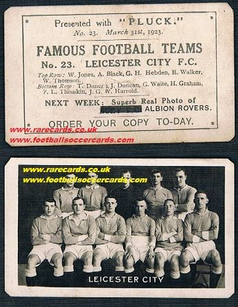 1923 Pluck SCOTTISH Leicester City