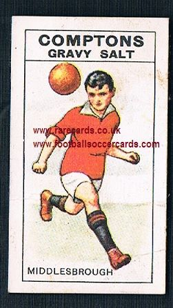1924 Compton's Gravy Salts  B13 coloured Middlesbrough Boro colours