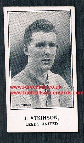 1925 Leeds Atkinson Barratt & Co Sherbet Novelties football trade card