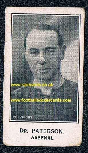 1926 Barratt Jimmy Dr Paterson Arsenal Rangers