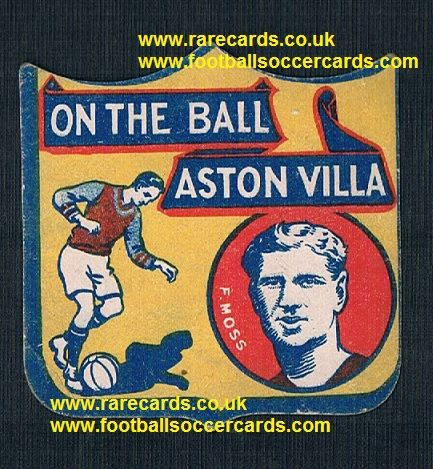 1926 Frank Moss Walsall Aston Villa Cardiff shield-card Boys Magazine