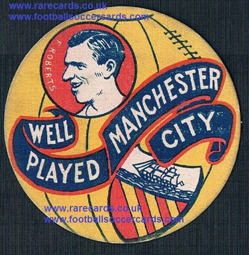 1926 Frank Roberts Bolton Man City Brentford WHU  shield-card Boys Magazine
