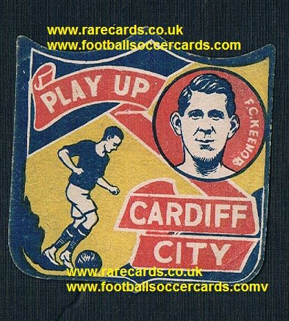 1926 Fred Keenor Cardiff Brentford Crewe shield-card Boys Magazine