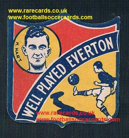 1926 Hunter Hart Airdrie Everton captain  shield-card Boys Magazine