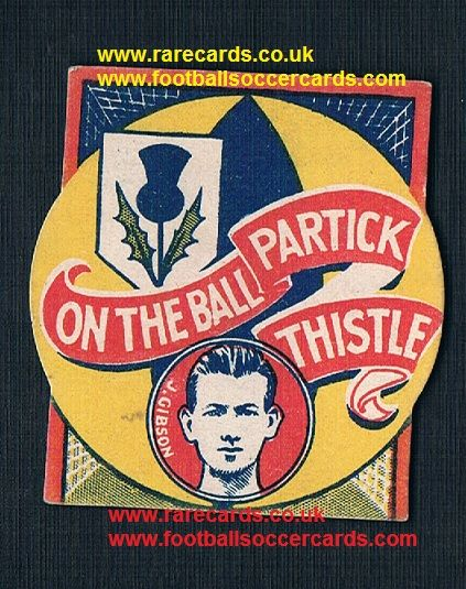 1926 Jimmy Gibson Aston Villa Partick Thistle shaped-card Boys Magazine