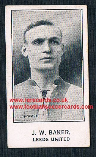 1926 Sherbet Novelties back J W Baker Leeds United Barratt card