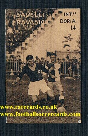 1928 Inter Milan Savelli SampDoria Ravasio