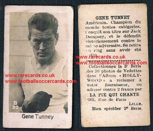 1930 Pie Qui Chante French card Gene Tunney boxing Hall of Fame legend