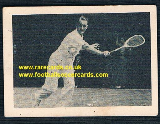 1930's South African Tobacco Cape Town World of Sport Jack J H Crawford World No.1 tennis card 73