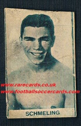 1930s Max Schmelling trade card