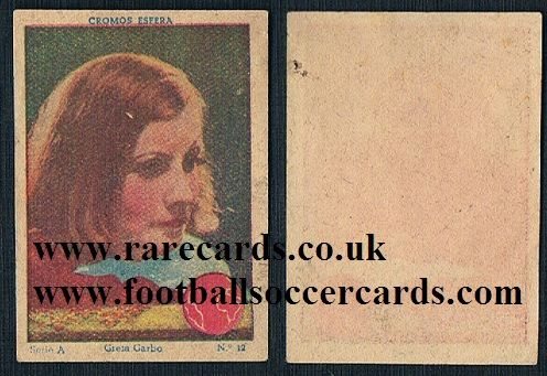 1930s Spanish Greta Garbo trade card