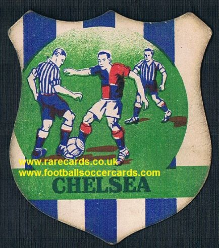 1930s unknown issuer Chelsea football shield card