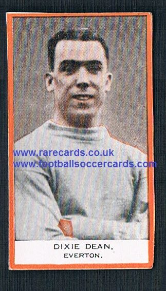 1932 Phillips BDV packet issue Dixie Dean Everton (no Capt.) back clean