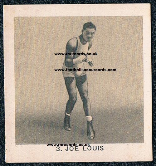 1937 Joe Louis Globo gum card
