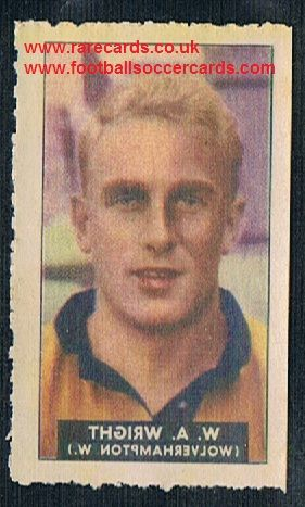 1948 Barratt WHC transfer decal Billy Wright Wolves