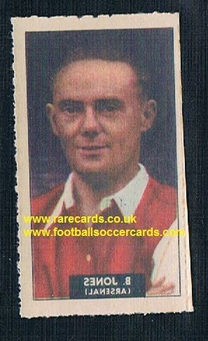 1948 Barratt WHC transfer decal Bryn Jones Arsenal Wolves Norwich